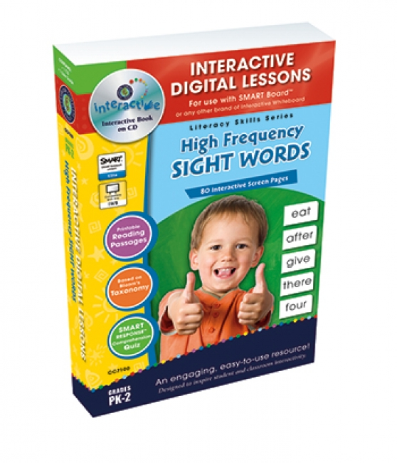 HIGH FREQUENCY SIGHT WORDS  INTERACTIVE WHITEBOARD LESSONS