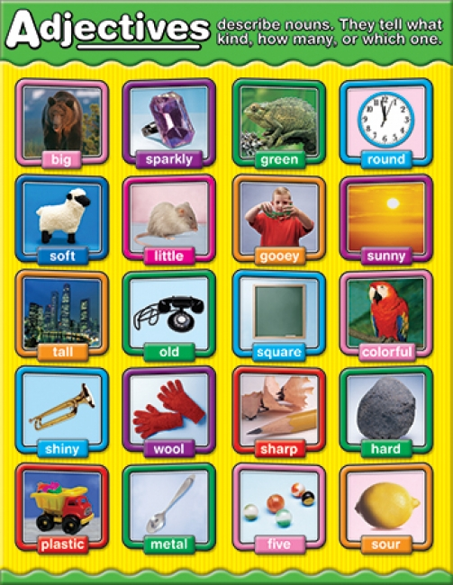ADJECTIVES PHOTOGRAPHIC CHARTLETS  CURRICULUM GR 1-3