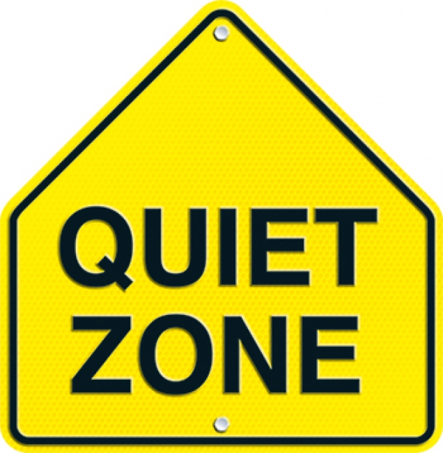 QUIET ZONE TWO SIDED DECORATIONS