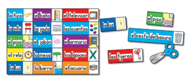 BB SET PRINT RICH LABELS SPANISH 56  CLASSROOM LABELS