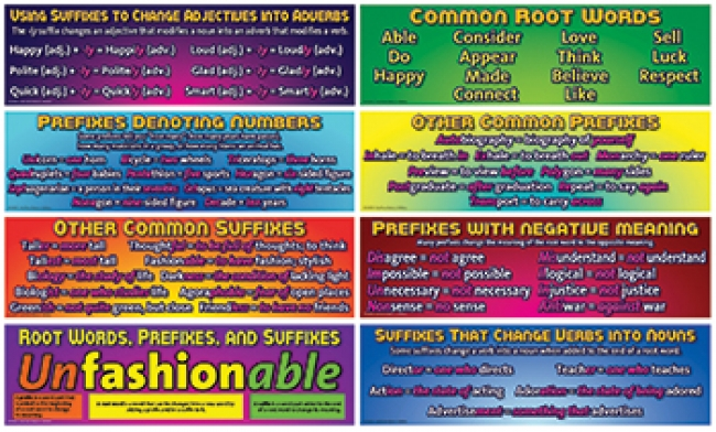 ROOT WORDS PREFIXES AND SUFFIXES BB  SET