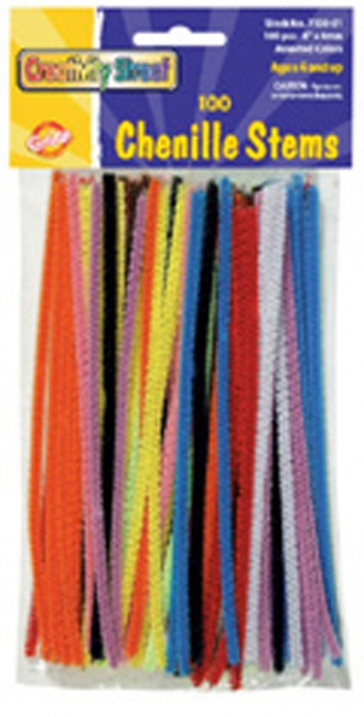 CHENILLE STEMS ASSORTED 6+ STEMS