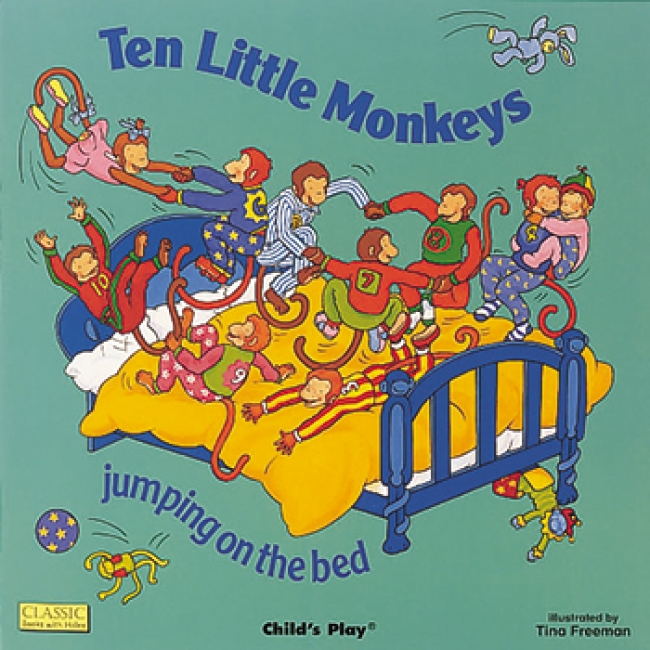 TEN LITTLE MONKEYS JUMPING ON THE