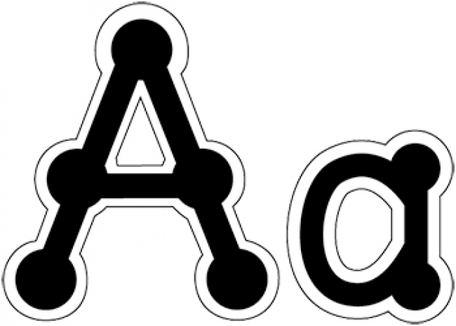 LETTERS DOT-TO-DOT LOWERCASE BLACK