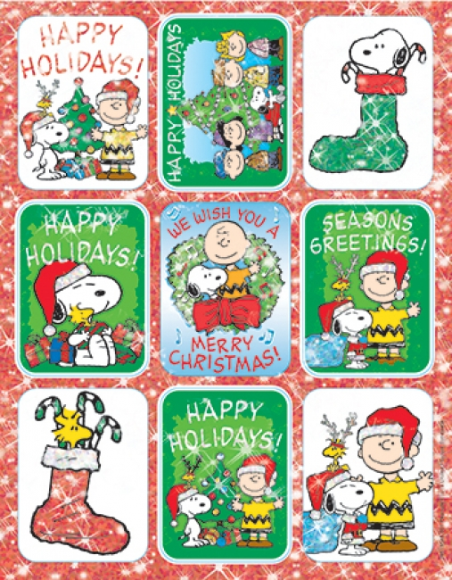 PEANUTS CHRISTMAS STICKERS FLATPACK