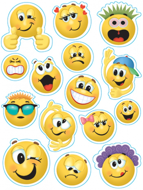 EMOTICONS 12 X 17 WINDOW CLINGS