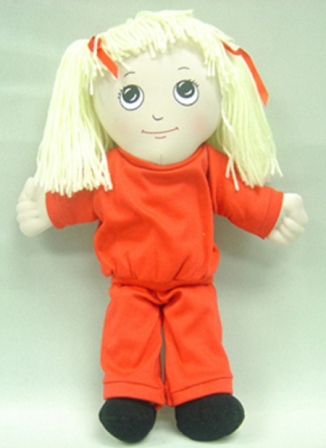 DOLLS WHITE GIRL DOLL SWEAT SUIT