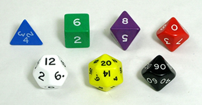 JUMBO POLYHEDRAL DICE SET OF 7