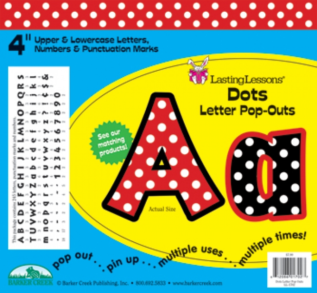 DOTS LETTER POP-OUTS