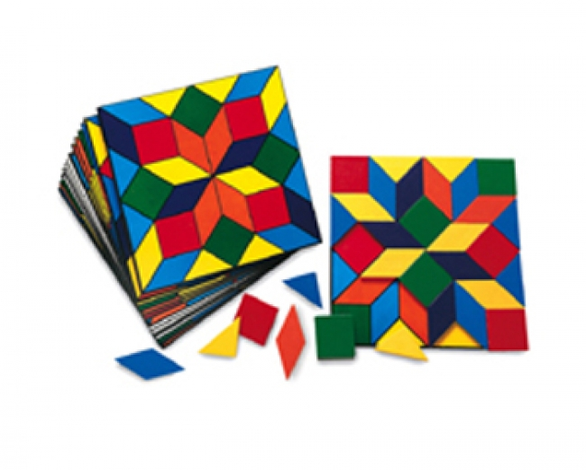 PARQUETRY BLOCK SET 20 CARDS 32 PCS
