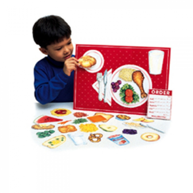 MAGNETIC HEALTHY FOODS 34 PCS  W/ PLACEMAT