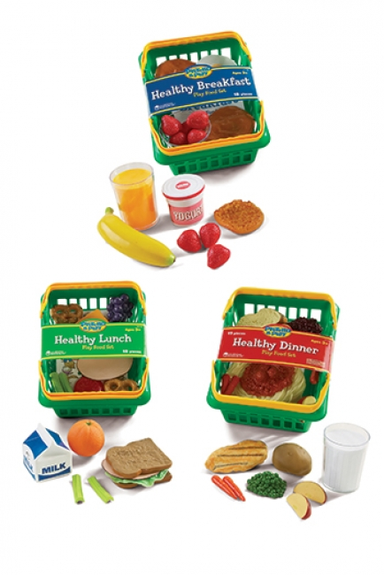 PLAY SET HEALTHY FOODS SET OF 55  BUNDLE