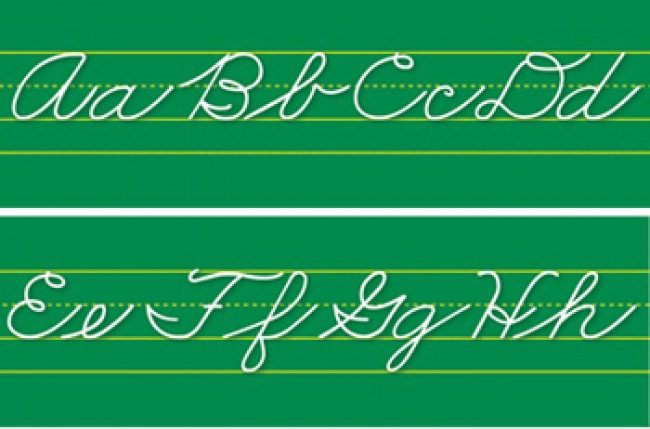 ALPHABET LINES TRADITIONAL CURSIVE
