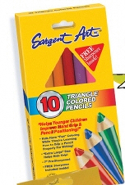 EASY GRIP TRIANGLE COLORED 10-SET
