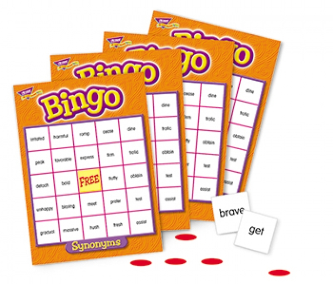 BINGO SYNONYMS AGES 10 & UP