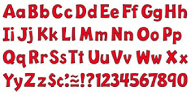 READY LETTER 4 INCH PLAYFUL RED