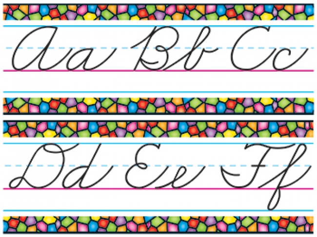 BB SET STAINED GLASS CURSIVE