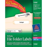 White File Folder Label
