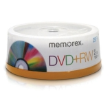DVD+RW Branded Spindle 4.7GB