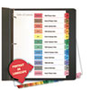 Table of Contents Dividers, Assorted Color 12-Tab, Months, Letter, White