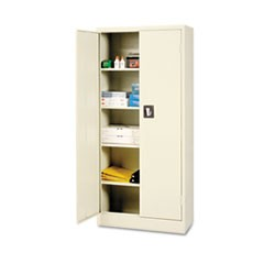 Space Saver Storage Cabinet, Four Shelves, 30w x 15d x 66h, Putty