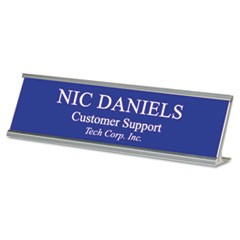 Custom Desk/Counter Sign, 2x8, Silver Frame