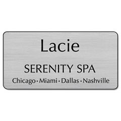 Customized Engraved Name Badge, 1 1/2 x 3, Assorted