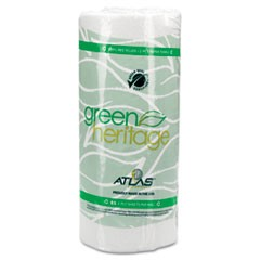"Green Heritage Kitchen Roll Towels, 11"" x 8"", White, 85/Roll, 30 Rolls/Carton"