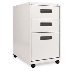 Three-Drawer Metal Pedestal File, 16w x 23-1/4d x 28-1/2h, Light Gray