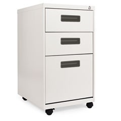 Three-Drawer Metal Pedestal File, 16w x 19-1/2d x 28-1/2h, Light Gray