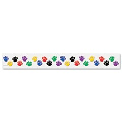 "Paw Prints Border Trim, 3"" x 35"" Panels, Paw Prints, 12/Pack"