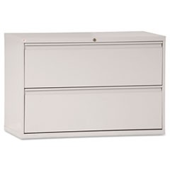 Two-Drawer Lateral File Cabinet, 42w x 19-1/4d x 28-3/8h, Light Gray