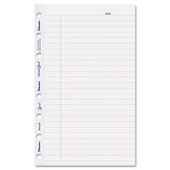 MiracleBind Ruled Paper Refill Sheets, 8 x 5, White, 50 Sheets/Pack