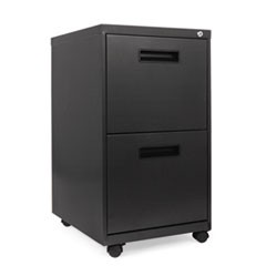 Two-Drawer Metal Pedestal File, 16w x 19-1/2d x 28-1/2h, Charcoal