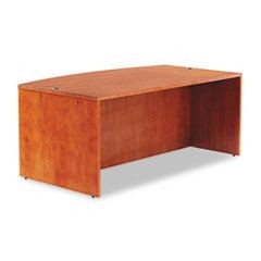 Verona Veneer Series Bow Front Desk Shell, 71w x 41-1/2d x 29-1/2h, Cherry