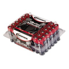Alkaline Batteries, AA, 48/Batteries/Pack