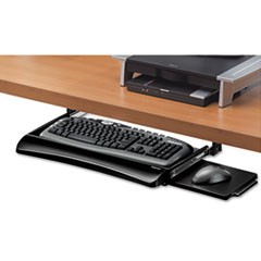 Office Suites Underdesk Keyboard Drawer, 20 1/8w x 7 3/4d, Black