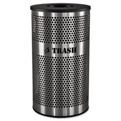Stainless Steel Trash Receptacle, 33gal, Stainless Steel