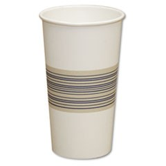 Paper Hot Cups, 20oz, Blue/Tan, 25/Bag, 20 Bags/Carton