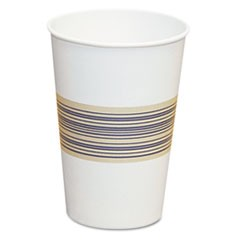 Paper Hot Cups, 12oz, Blue/Tan, 50/Bag, 20 Bags/Carton