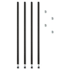 "Stackable Posts For Wire Shelving, 36 ""High, Black, 4/Pack"