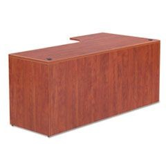 Valencia Right Corner Credenza Shell, 72w x 36d x 29 1/2h, Medium Cherry