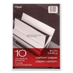Carbon Paper, Mill Finish, 8 1/2 x 11, 10 Sheets