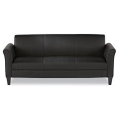 Alera Reception Lounge Furniture, 3-Cushion Sofa, 77w x 31-1/2d x 32h, Black