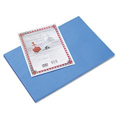 Riverside Construction Paper, 76 lbs., 12 x 18, Blue, 50 Sheets/Pack