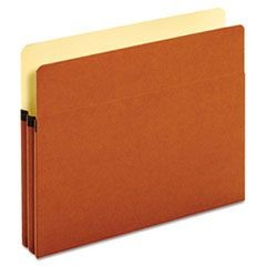 "Bulk File Pockets, Straight Cut, 1 Pocket, Letter, 1 3/4"" Exp., Brown, 50/Carton"