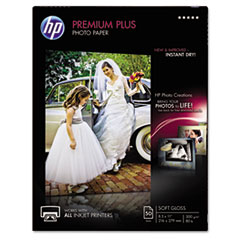 Premium Plus Photo Paper, 80 lbs., Soft-Gloss, 8-1/2 x 11, 50 Sheets/Pack