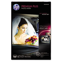 Premium Plus Photo Paper, 80 lbs., Soft-Gloss, 4 x 6, 100 Sheets/Pack