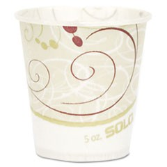 Paper Water Cups, Waxed, 5oz, 100/Bag, 30 Bags/Carton