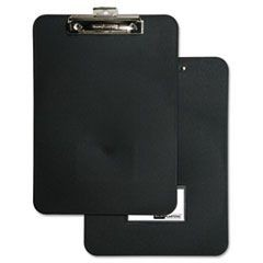 "Unbreakable Recycled Clipboard, 1/2"" Capacity, 8 1/2 x 11, Black"